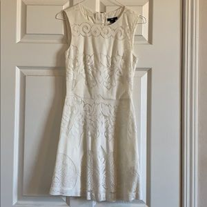 Lace white mini dress